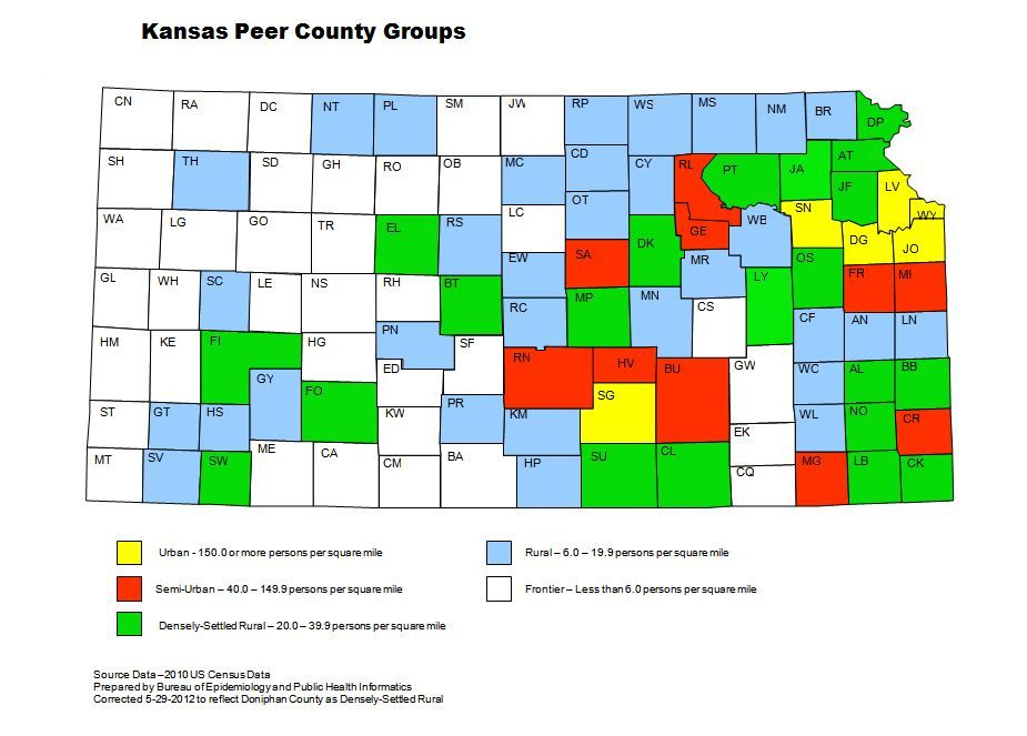 Peer County Groups Map
